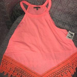 NWT coral pink shirt